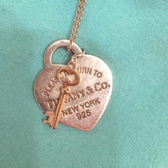 Tiffany Co Jewelry Return To Tiffany Heart And Key Necklace Poshmark